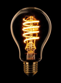 3-standen LED spiraal standaard goud