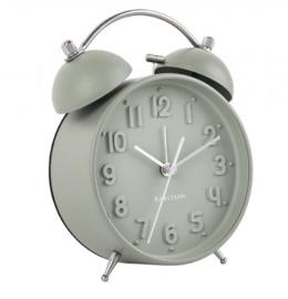 Wekker/klok Iconic mat grijs groen