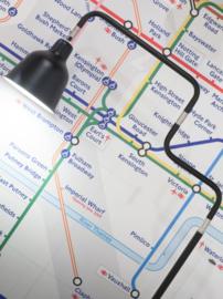 Vloerlamp LONDON zwart