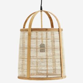 Hanglamp bamboe linnen Madam Stoltz