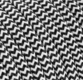 Textielsnoer zwart-wit zebra
