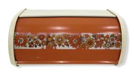 Vintage broodtrommel met bloemdessin