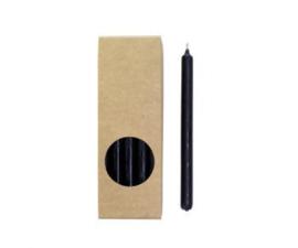 Set 20 kaarsen zwart D:12mm H:175mm