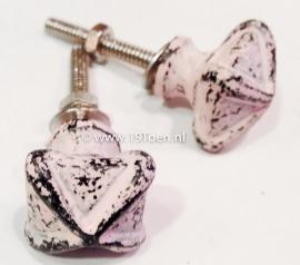 Knopje metaal roze