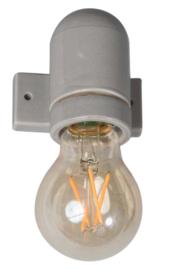 Wandlamp porselein grijs