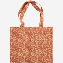 Shopper oranje/bruin Madam Stoltz
