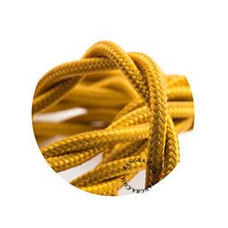 Textielsnoer gedraaid goud