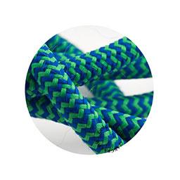Textielsnoer blauw-groen zebra