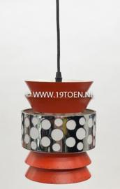 Vintage hanglamp oranje-chroom