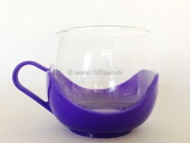 Theeglas paars-blauw