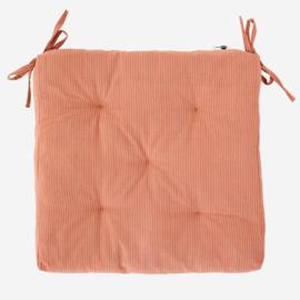 Stoelkussen roze/grijs streepje Madam Stoltz