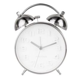 Wekker/klok Mr. White steel