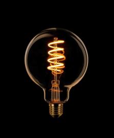 3-standen LED spiraal 95mm goud