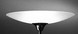 Vloerlamp Standaard + glas (gezandstraald)