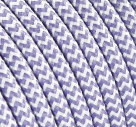 Textielsnoer lila-wit zebra