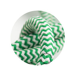 Textielsnoer groen-wit zebra