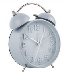 Wekker/klok Iconic mat lichtblauw
