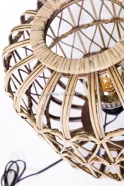 Vloerlamp bamboe 108 cm hoog