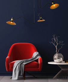 Plafondlamp zwart/messing