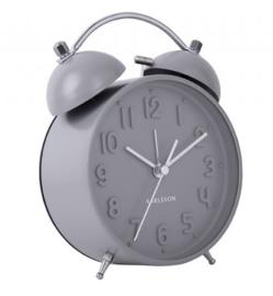 Wekker/klok  Iconic mat grijs