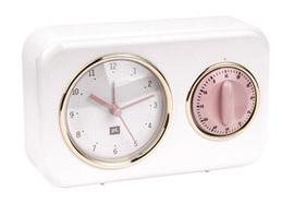 Klokje met timer wit