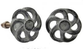 Knop metaal grijs