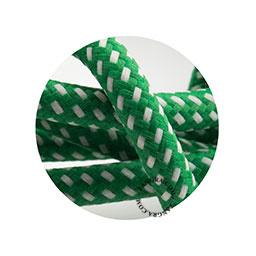 Textielsnoer groen met wit stipje