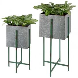 Plantenbak vierkant M op standaard.