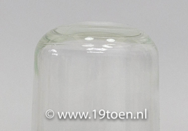 Porselein wandarmatuur M + helder glas kort