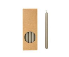 Set 20 kaarsen linen D:12mm H:175mm