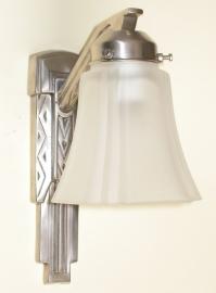 Wandlamp Sixo + glas Vierkant ets