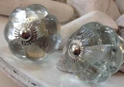 Knop glas geschulpt