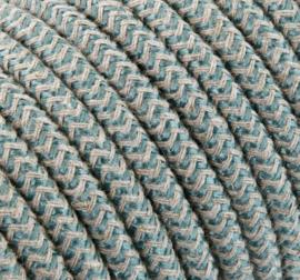 Textielsnoer zand-salie zebra