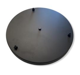 Plafondkap XXL 3-gats mat zwart