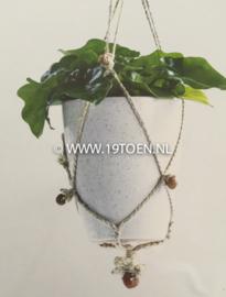Plantenhanger macramé naturel