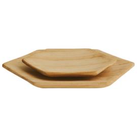 Set van 2 houten borden Madam Stoltz