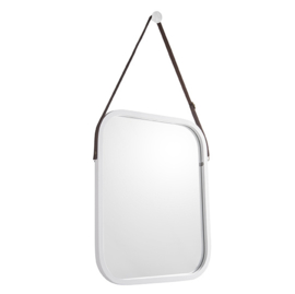 Bamboe spiegel M wit