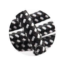 Textielsnoer zwart met wit stipje