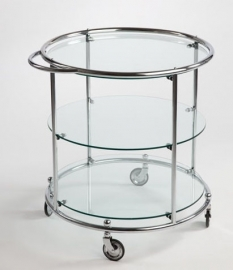 Tea trolley 3 glasplaten