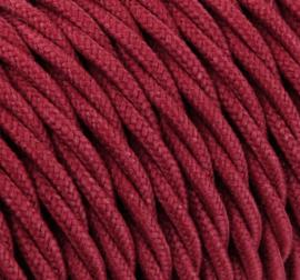 Textielsnoer torcido diep-rood 3 polig