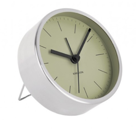 Alarm clock Minimal rvs/groen