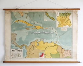 "Oude landkaart ""West Indië"""