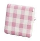 Knop vierkant roze blokje
