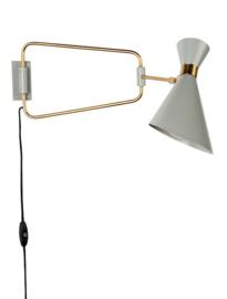 Wandlamp Mid Century draaibaar grijs
