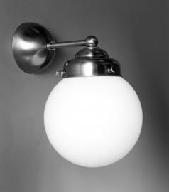 Wandlamp Recht+ Bol 15cm
