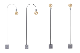 Tafellamp ''Beton Bow'' wit