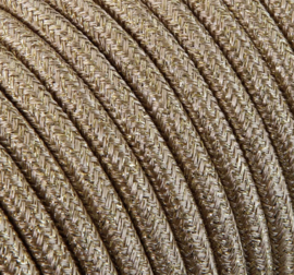 Textielsnoer 'glitter' gold