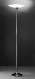 Vloerlamp Strak + glas (gezandstraald)