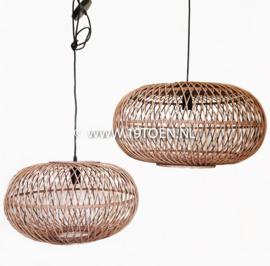 Hanglamp bamboe Ufo L