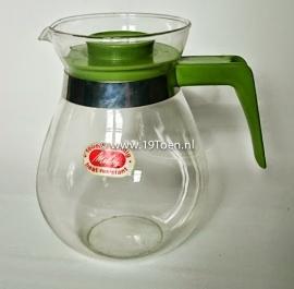 Melita glazen koffiekan